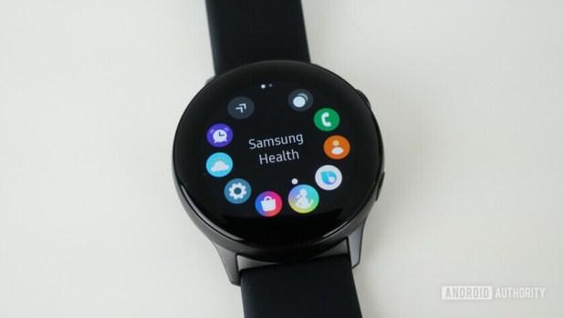 Samsung Galaxy Watch Active app picker