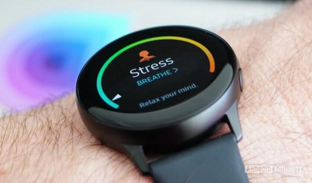 Samsung Galaxy Watch Active stress monitoring
