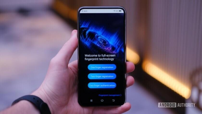 Vivo APEX 2019 fingerprint