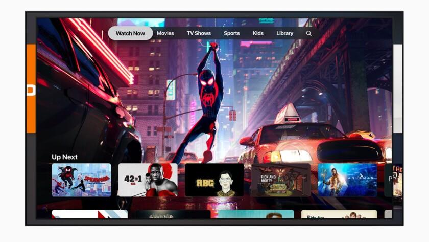 Capture d'écran de la montre Apple TV Plus maintenant.