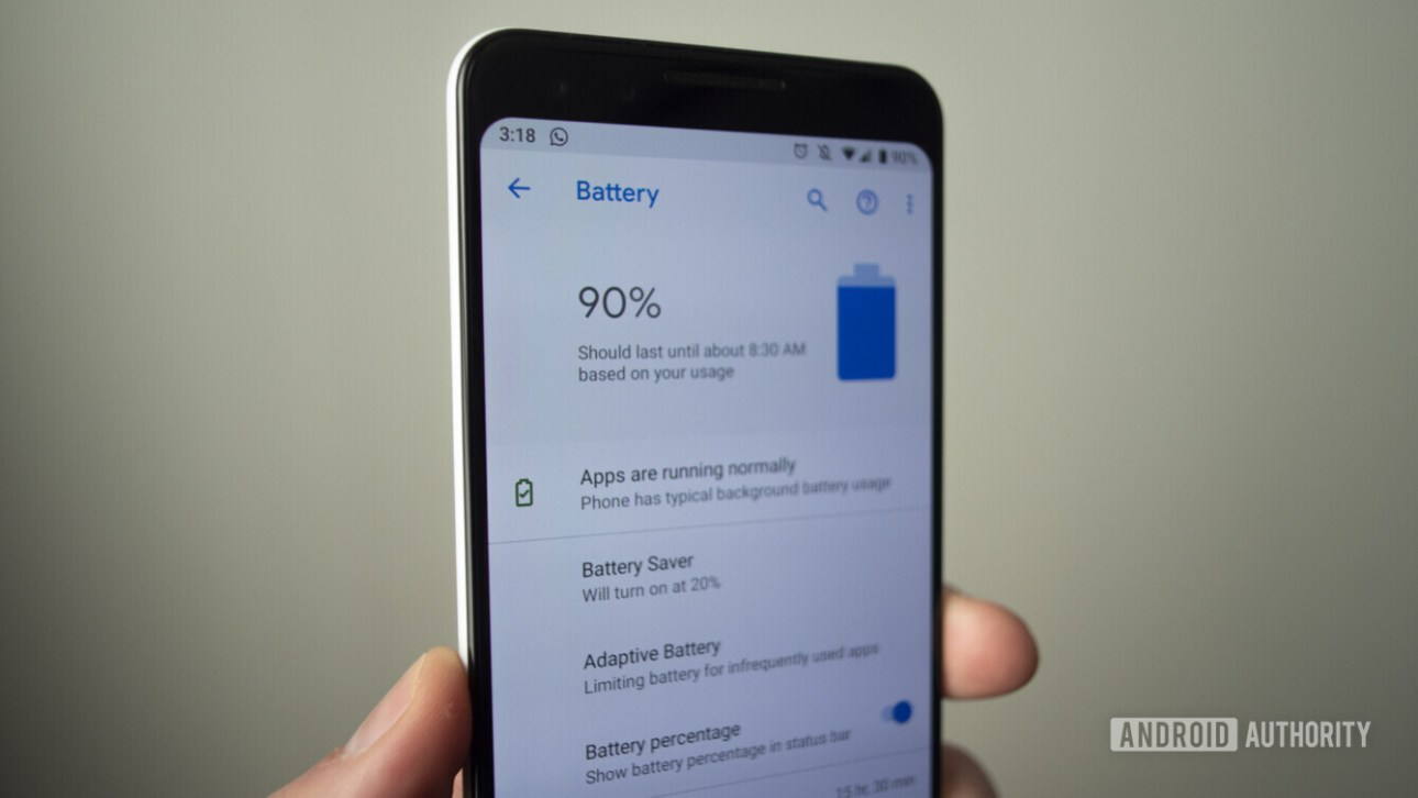 google pixel 3 информация о батарее