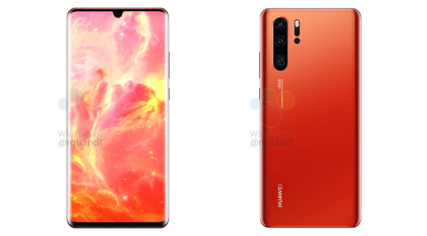 Huawei P30 Pro renders via WinFuture - Huawei P30 and P30 Pro rumors