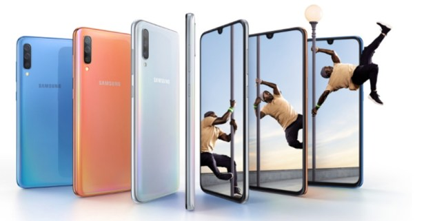 The Samsung Galaxy A70.