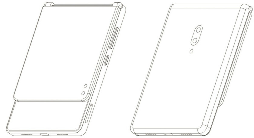 ZTE foldable phone patent shows a quirky clamshell design