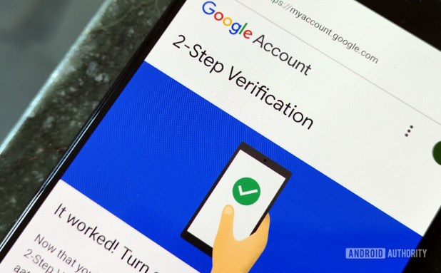 Setting up Google account two factor authentication
