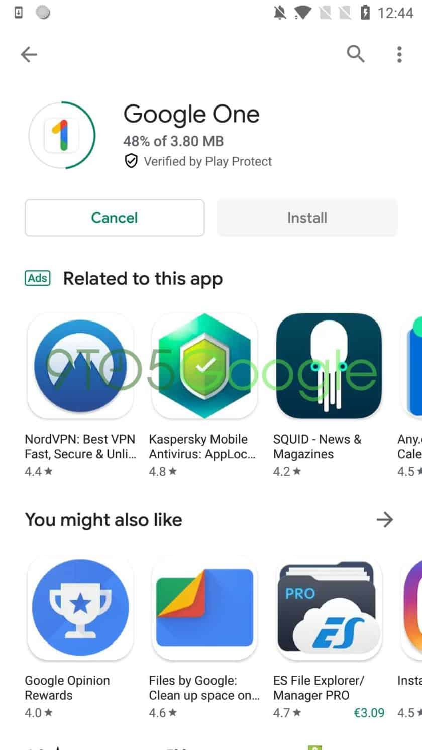 Screenshot of the Google Play Store's new Material Design change 3
