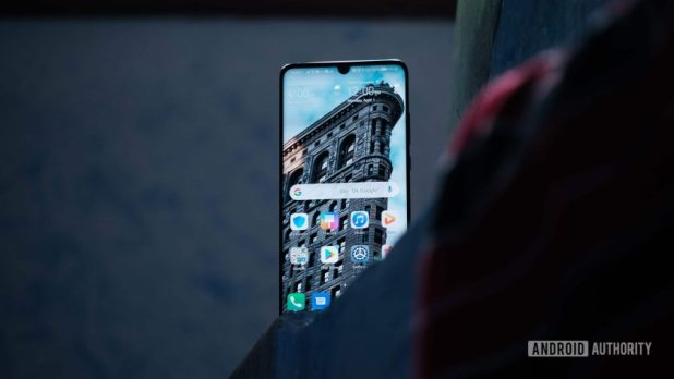 Huawei P30 Pro display on stairs