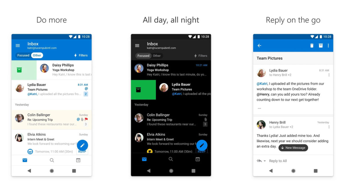 Microsoft Outlook screenshot 2019