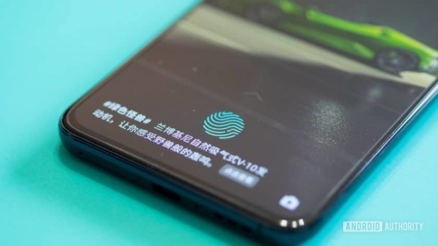 Oppo Reno Hands On in-display fingerprint sensor