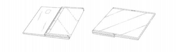 Image of a Samsung foldable device from a patent.