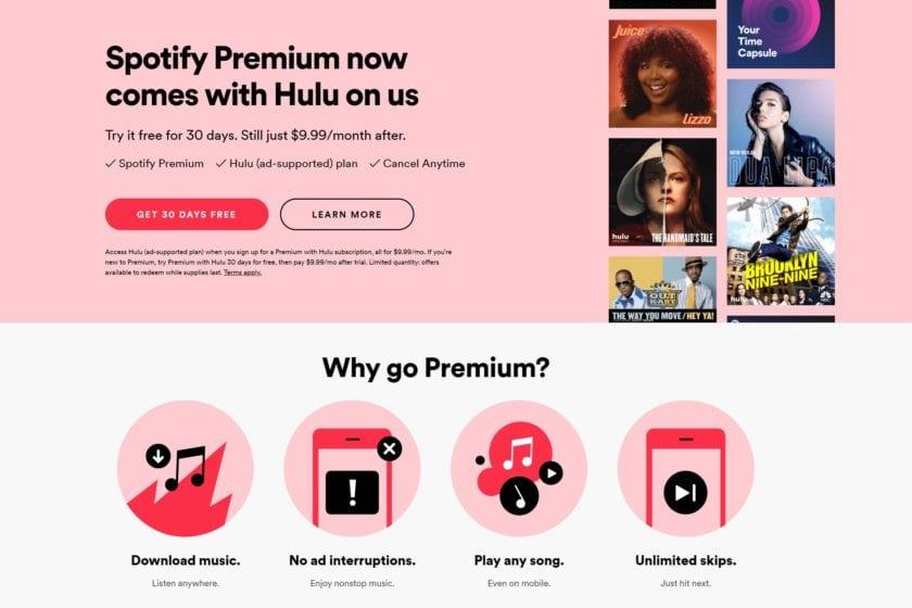 Spotify premium hulu
