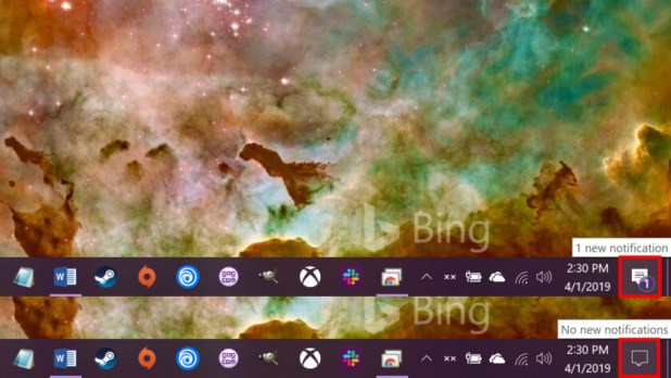 Windows 10 new notification icon - How to use notifications in Windows 10