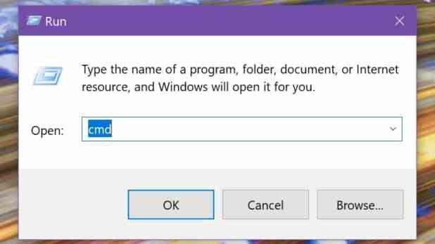 Windows 10 run Command Prompt