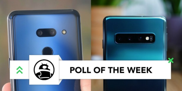 samsung galaxy s10 vs lg g8 thinq comparison images back cameras poll