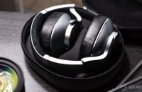 AKG N700NC headphones folded into the carrying case.