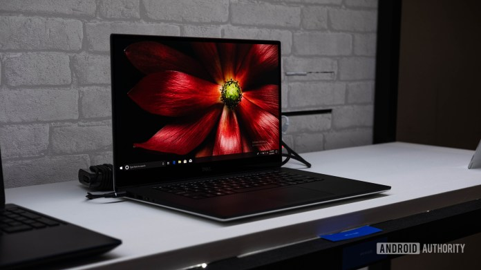Dell XPS 15 2019 OLED - at angle