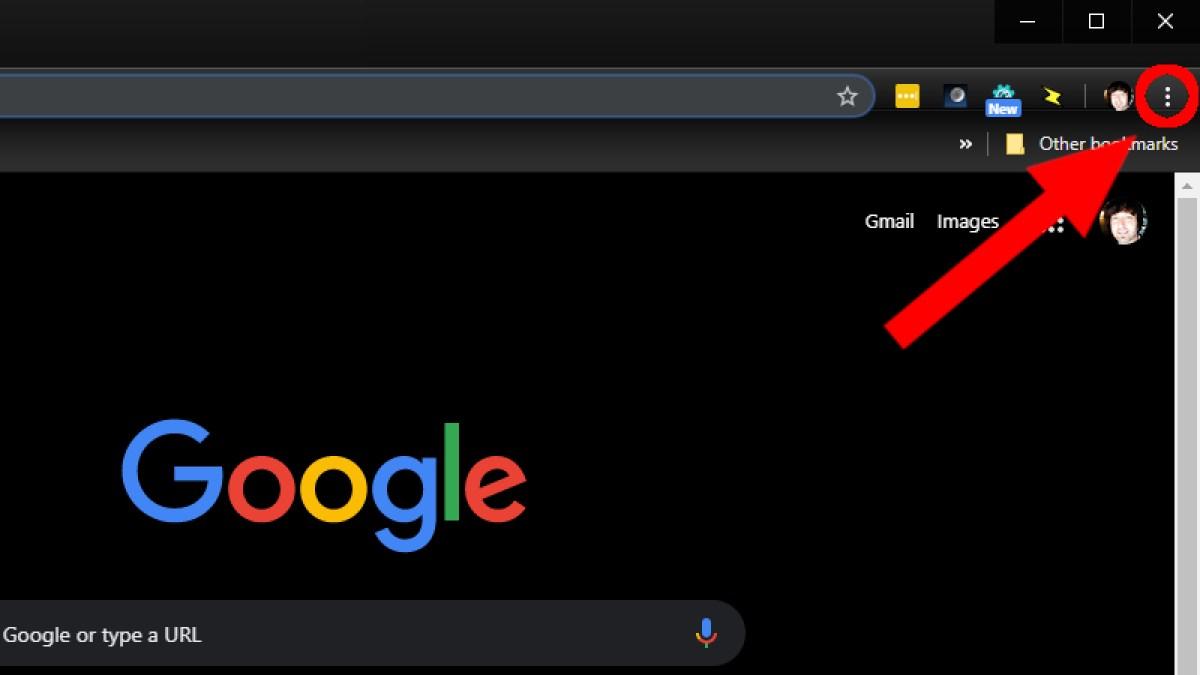 Значок настроек Google Chrome для установки Kodi