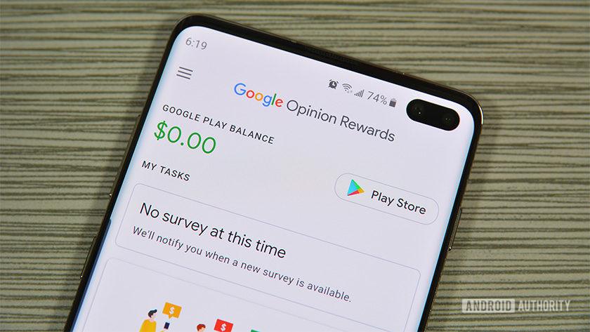 A photo of Google Opinion Rewards