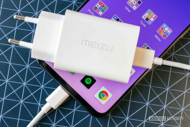 Meizu 16s and its mCharge fast charger