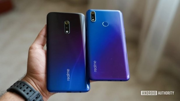Realme X vs Realme X Lite phones in hand