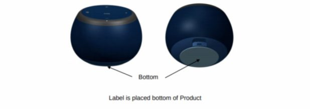 Image of the Samsung Galaxy Home Mini from an FCC filing.