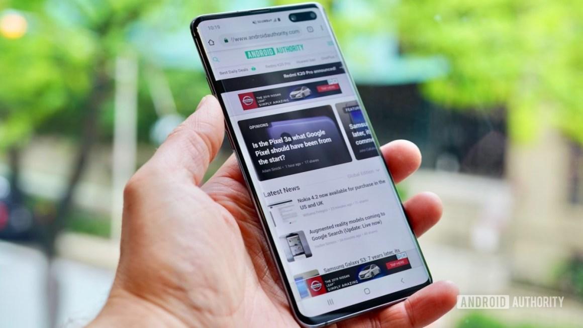 Samsung Galaxy S10 5G Verizon Wireless левый профиль