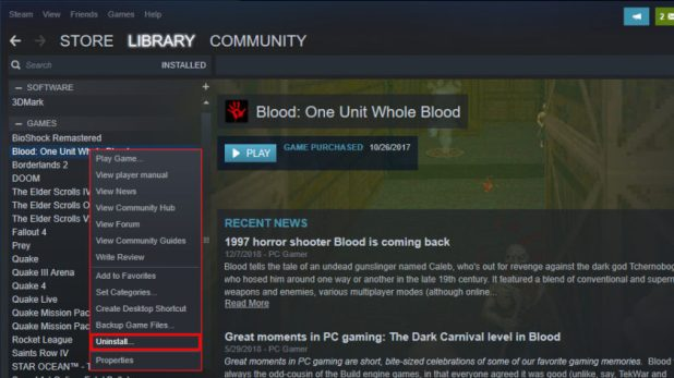 Steam Uninstall Games - How to uninstall Steam games on Windows 10