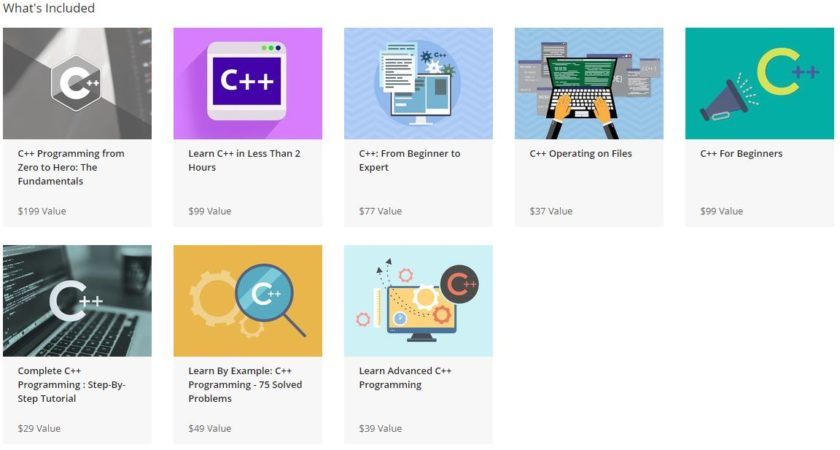 The complete C ++ programming bundle, including content