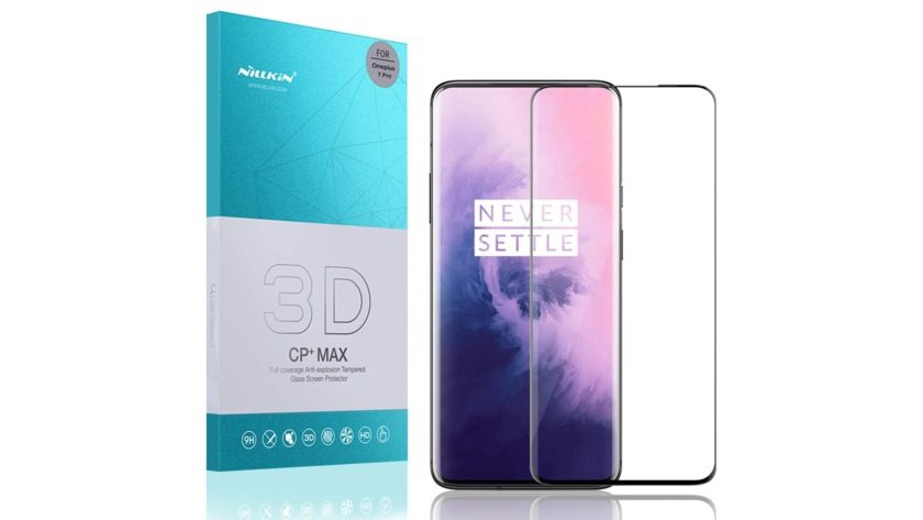 nillkin oneplus 7 pro tempered glass screen protector