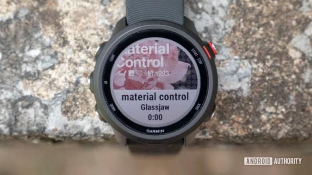 garmin forerunner 245 music running watch music control screen