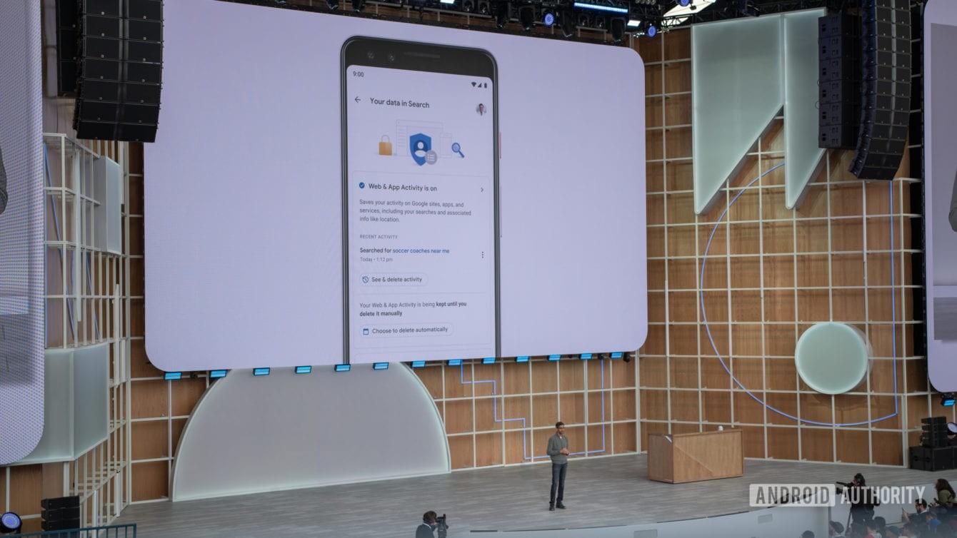 Controles de privacidade do Google I / O 2019