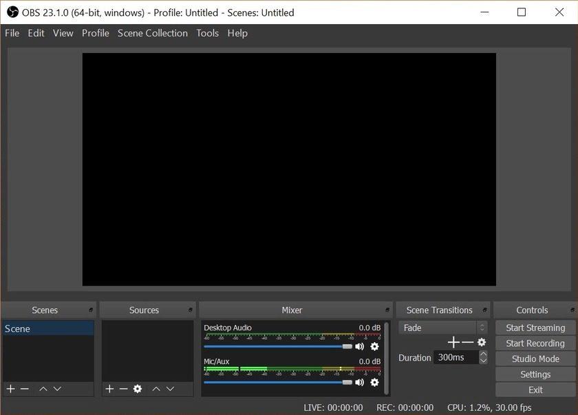 obs studio free screen recorder for windows