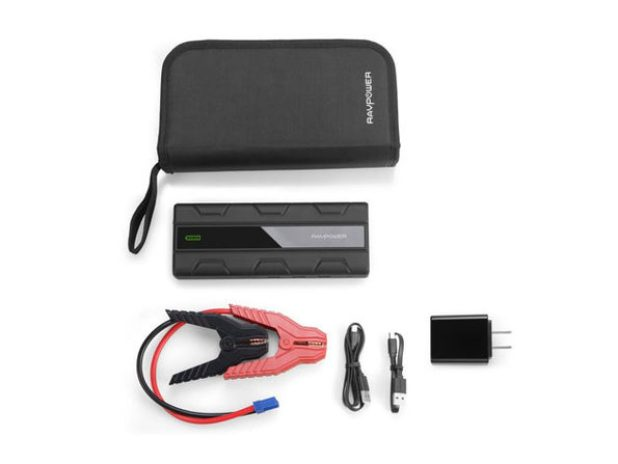 The 14,000mAh Car Jump Starter Kit with Power Bank