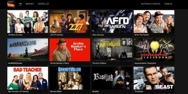 Sony Crackle TV series