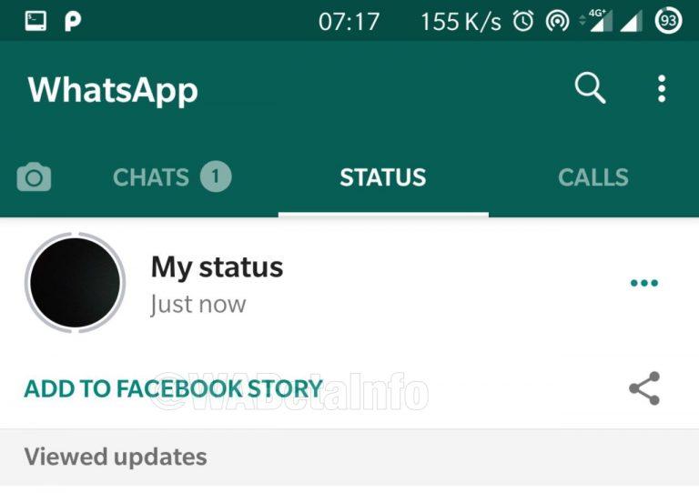 New Stories functionality in WhatsApp.