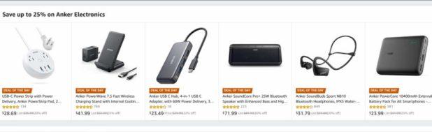 Amazon sale on Anker accessories.