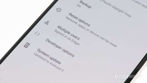 How to enable developer options on Android - image of developer options settings