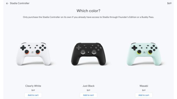 The Google Stadia Controller on the Google Store.