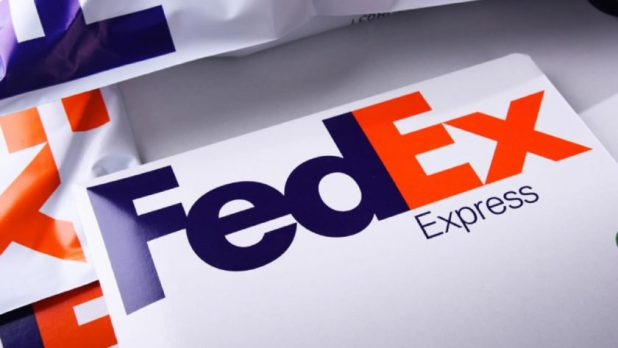 Image of a FedEx package