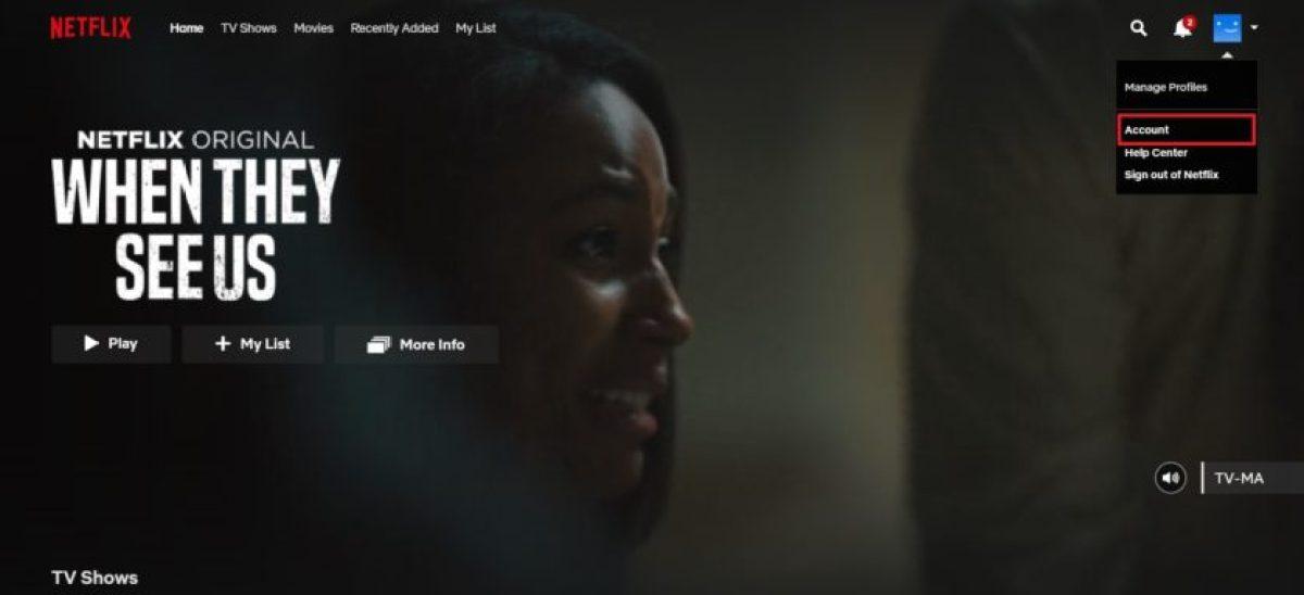 Удалить историю Netflix