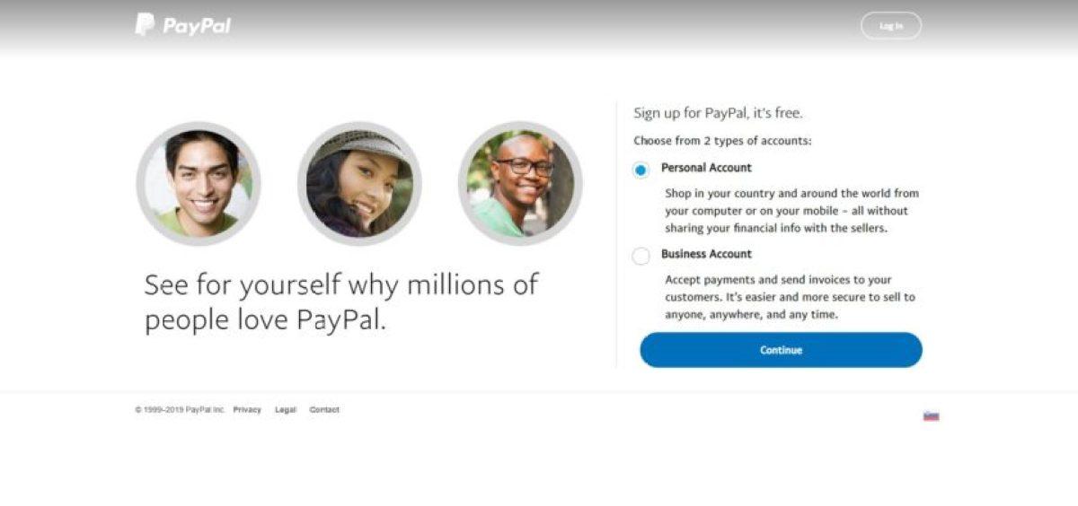 PayPal бизнес / личный счет