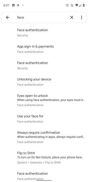 Android Q Beta 4 Face Authentication