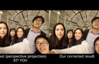 An algorithm by Google and MIT researchers to correct wide angle distortion.