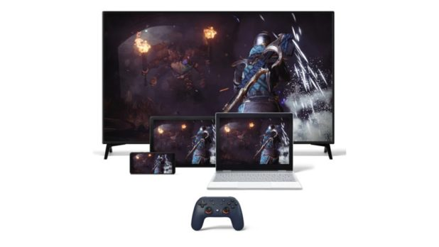 Google Stadia Night Blue Controller with Device Form Factors