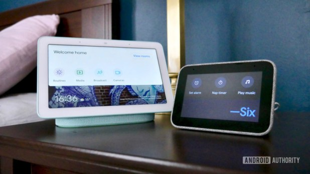 Lenovo Smart Clock vs Google Nest Hub controls