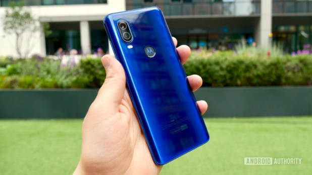 Motorola One Vision rear in hand