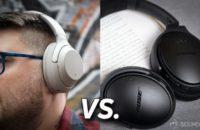 Sony WH-1000XM3 headphones vs. Bose QC 35 II title card.