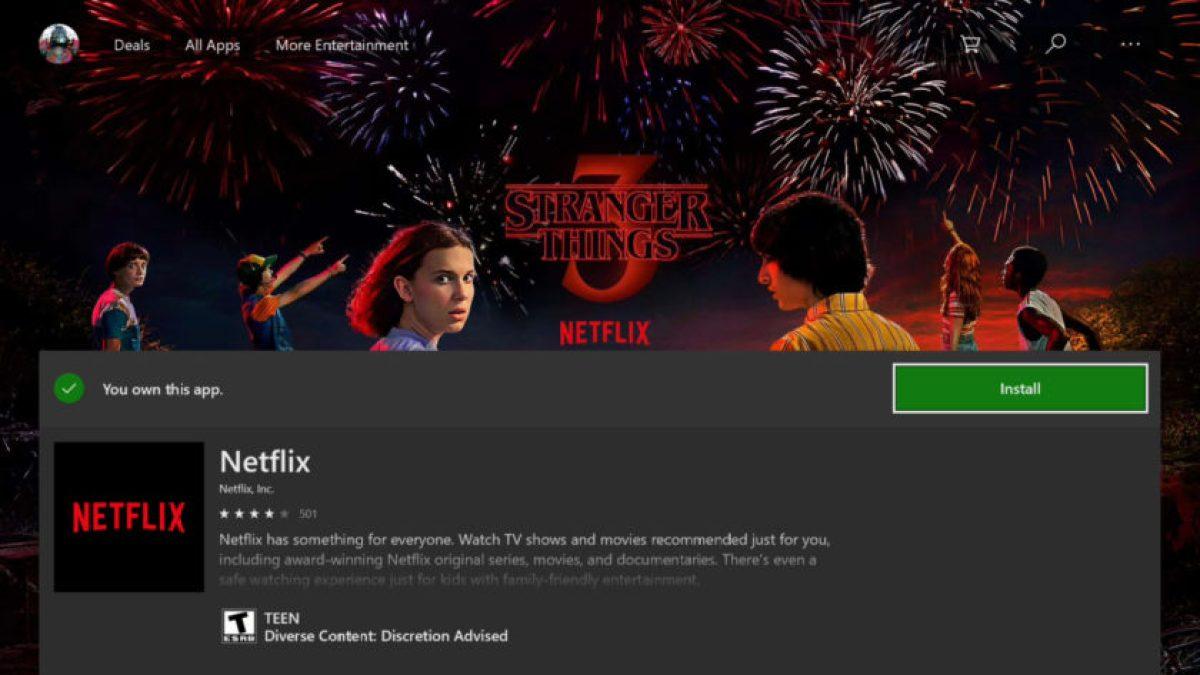 Xbox One Установить Netflix