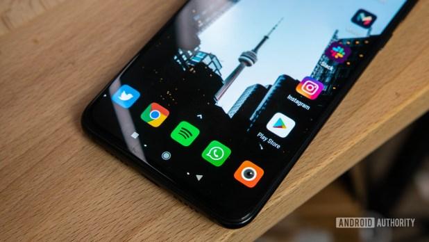 Xiaomi Mi 9 Home screen showing Nova Launcher