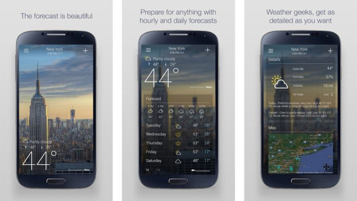 Yahoo Weather screenshot 2019 Final